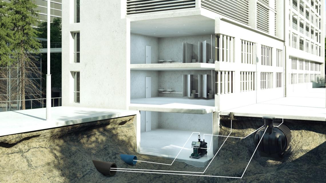 regenwassernutzung clever g nstig und umweltschonend wilo. Black Bedroom Furniture Sets. Home Design Ideas