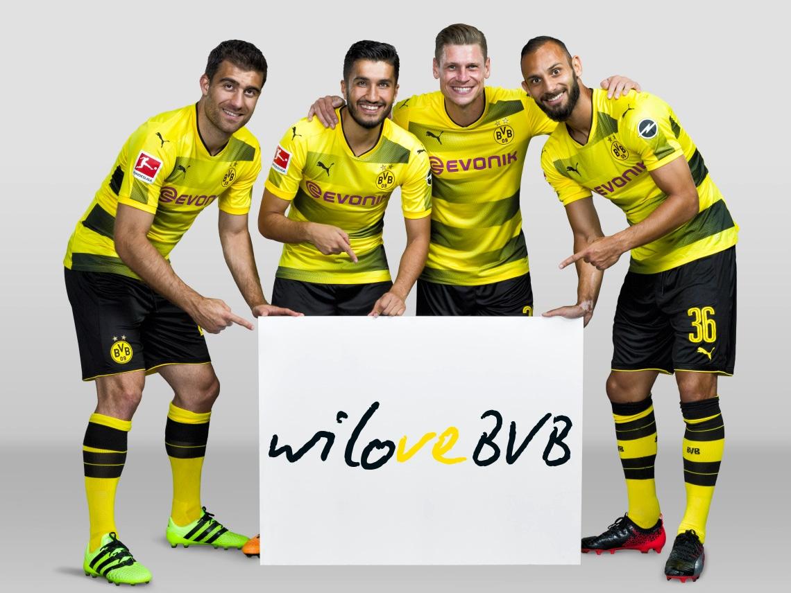 Fotoshooting BVB Spieler Saison 2017/18