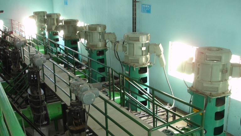 Vertical Turbine VT in Anpara power station - Above floor installation