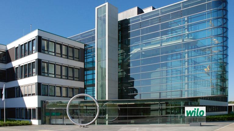 WILO SE - Haupteingang am Hauptsitz in Dortmund, Deutschland