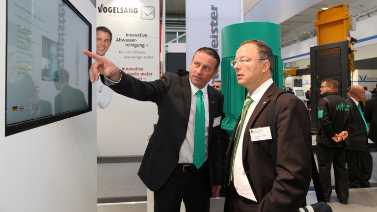 Booth and People at IFAT 2014 WILO SE aus Dortmund bei der IFAT 2014 in München WILO SE aus Dortmund bei der IFAT 2014 in München