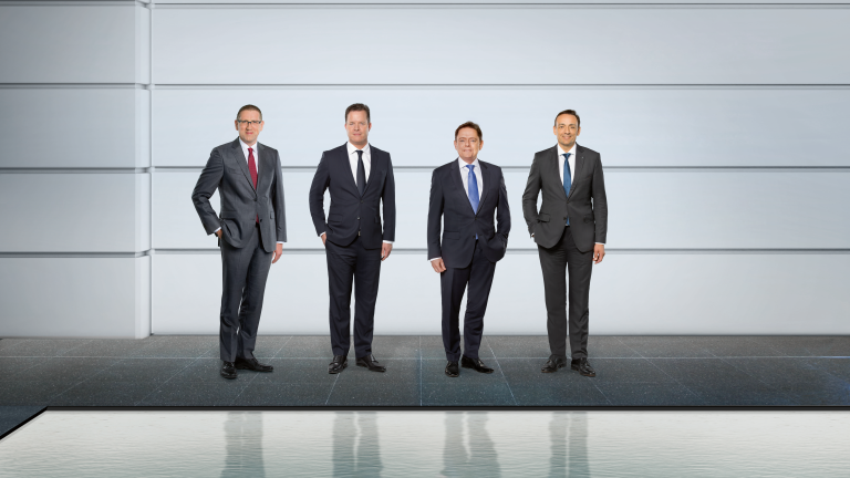 Georg Weber (CTO), Oliver Hermes (CEO), Mathias Weyers (CFO), Carsten Krumm (COO) (from left)