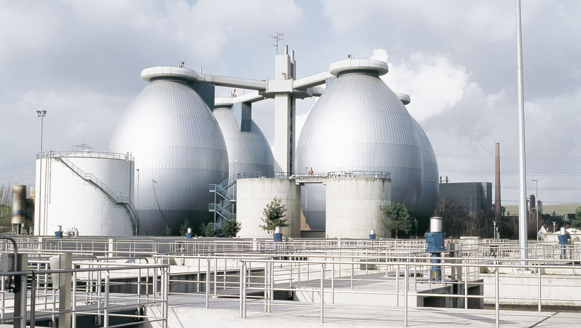 Digester at wastewater treatment plant