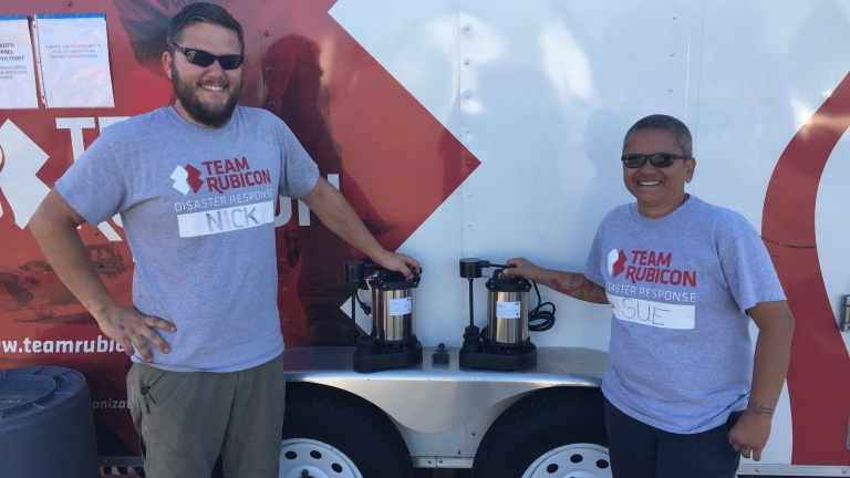 Pumps Disaster Response Team Rubicon Toolbank Donation