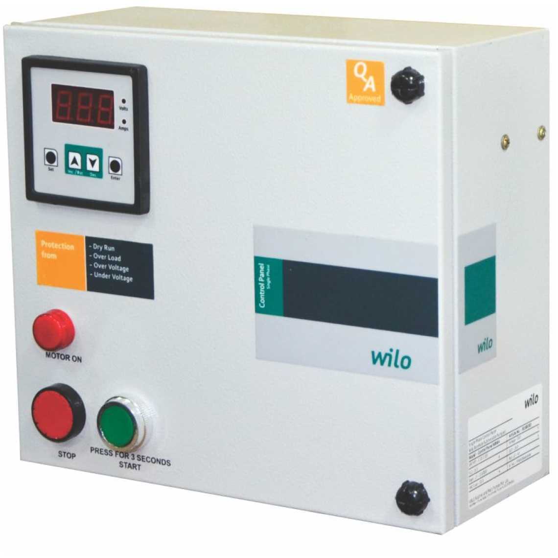 Products And Expertise Wilo Mdc300120151 Brushless Speed Controllers 1hp Over Control Panel For Borewell Submersible Pumpset Wbw4