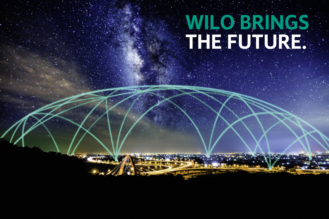 Bird´s-eye view city, digitization, WILO BRINGS THE FUTURE
