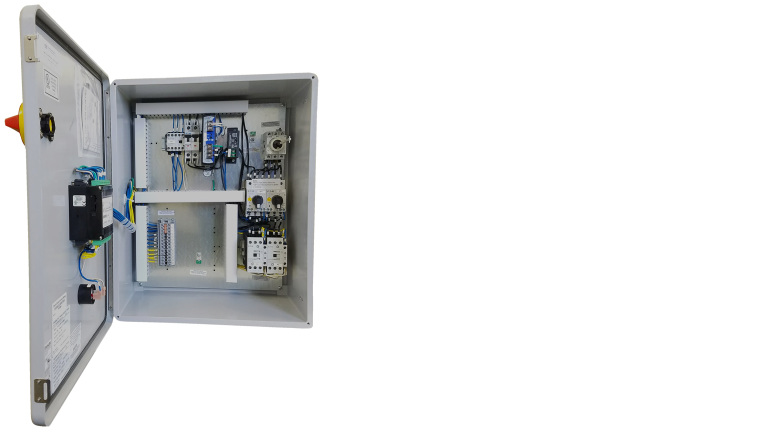 Weil Pump PLC Panel Open