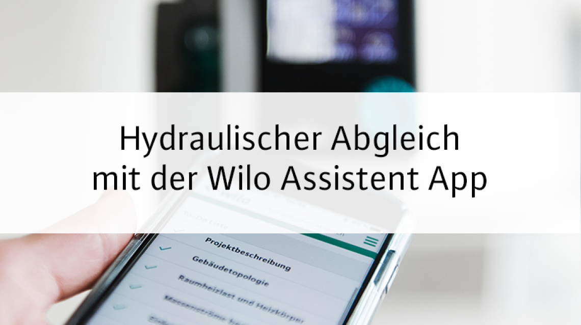 Teaser picture Wilo Assistent App