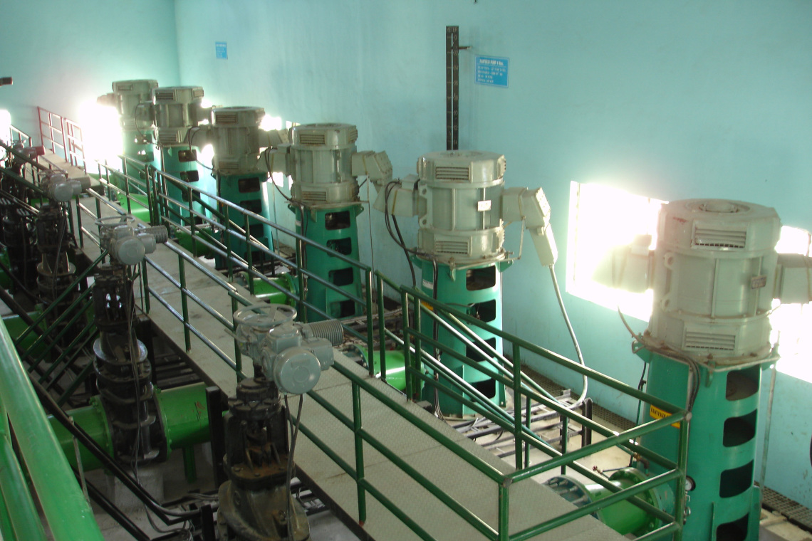 Vertical Turbine VT in Anpara power station - Above floor installation