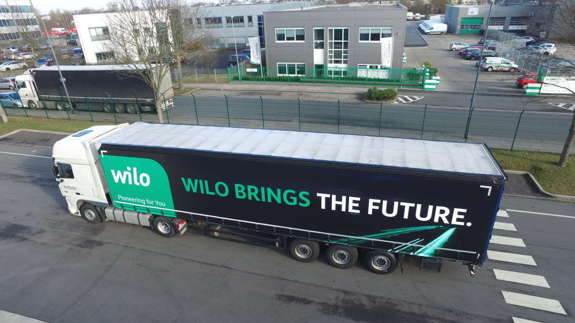 Messe-LKW - Wilo brings the future