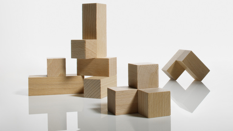 Wooden puzzle blocks