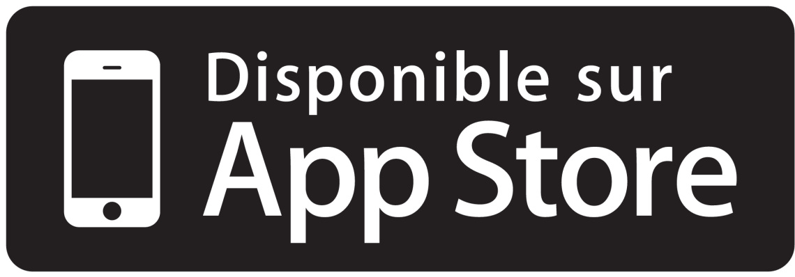 App store badge available french