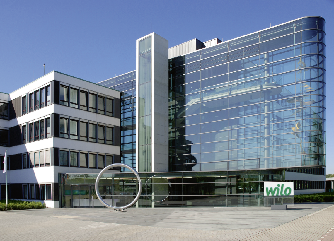WILO SE - Main entrance of the Headquarters in Dortmund, Germany