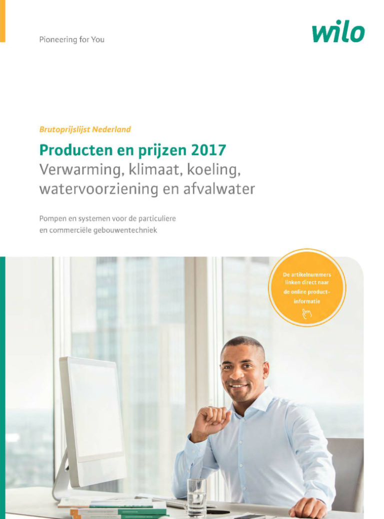 Cover of the Dutch Pricelist 2017